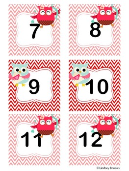 February Owl Calendar Cards and Headers