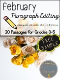 February Paragraph Editing Freebie for Grades 3-5
