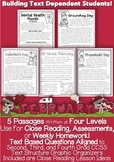 February Passages w CCSS Text Based Questions Close Reading PDF & Google Slides™