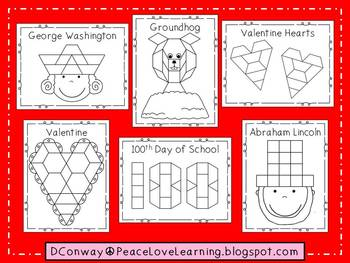 February Pattern Block Pictures