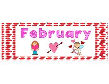 February Patterning Calendar Cards & Header (2 Sets!)