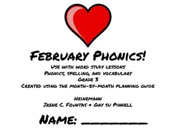 February Phonics/Word Study Heinemann (Fountas and Pinnell) Grade 3