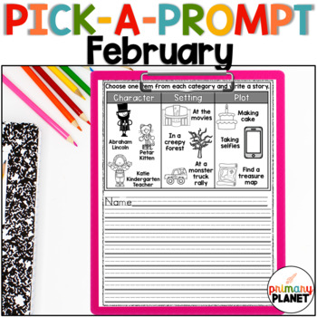 February Writing Prompts for Writer's Workshop, Centers, R