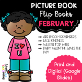 February Picture Book Flip Books - Print and Digital Options