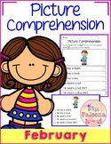 February Picture Comprehension Cards and Worksheets