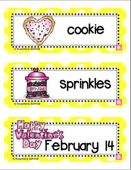 February Picture Word Cards K-3
