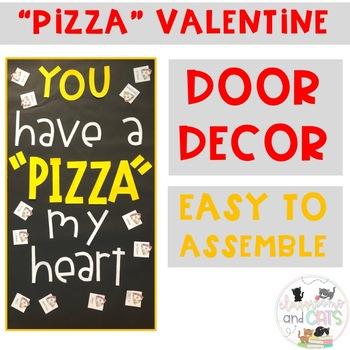 February Pizza bulletin board or door decor