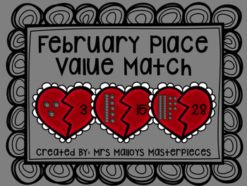 February Place Value Match