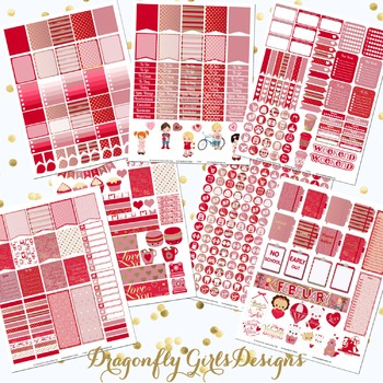 February Planner Stickers Kit