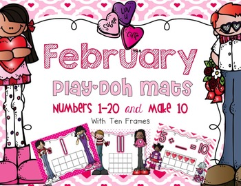 February Play-Doh Mats {1-20 and Make 10}