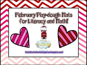 February Playdough Mats for Literacy and Math