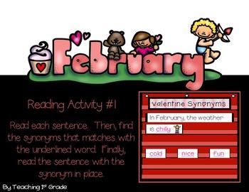 February- Pocket Chart Activities
