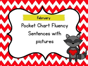 February Pocket Chart Fluency Sentences