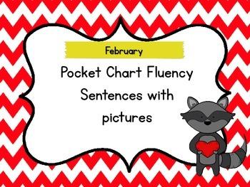 February Pocket Chart Fluency Sentences