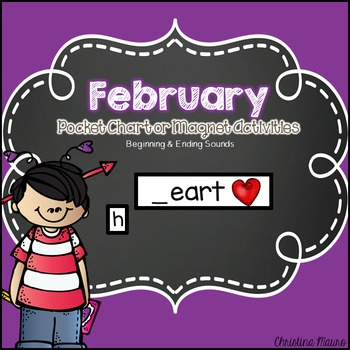 February Pocket Chart or Magnetic Letter Activities