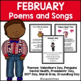February Poems and Songs for Poetry Unit (Printable)