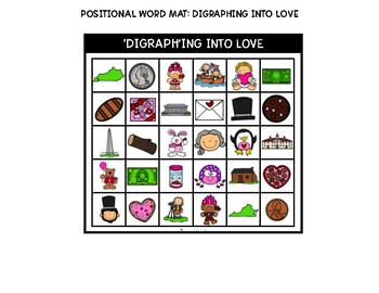 February Positional Words: Digraphs (sh,ch,th)