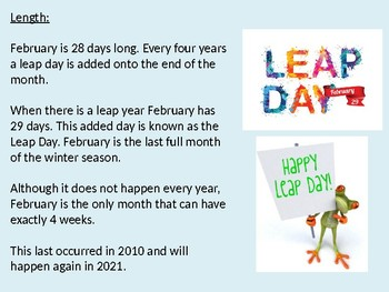 February - Power Point facts information history review holidays observances