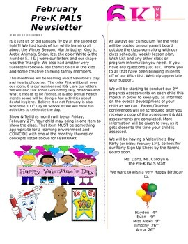 February Pre-K Newsletter