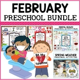 February Preschool Activities Bundle