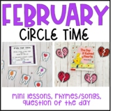 February Preschool Circle Time (Valentine's Day, Groundhog Day, Dental Health)