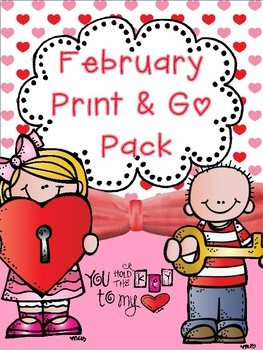 February Print & Go No Prep Pack (CCSS)