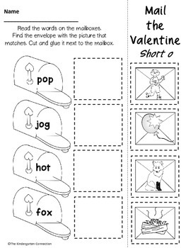 February Print- That's It! Kindergarten Math and Literacy Printables SAMPLER