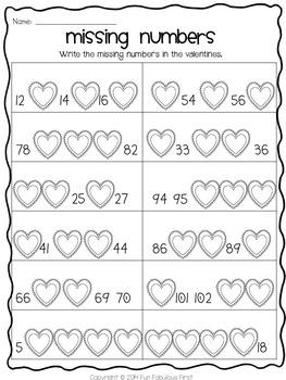February Print and Go! ELA and Math Printables