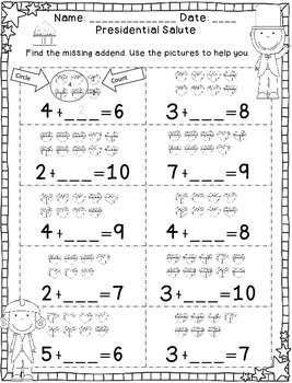 February Print and Go-No Prep Math and Language Skill Pages