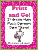 February Print and Go! Second Grade Math