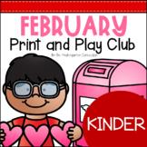 February Print and Play Club - Kindergarten