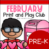 February Print and Play Club - Pre-K