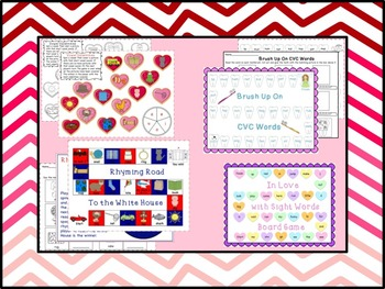 February Print and Play Literacy and Math Games