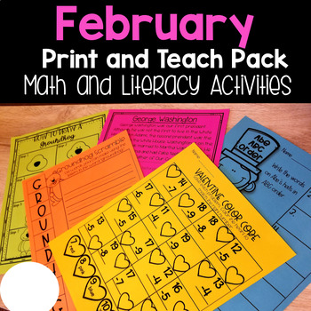 February Print and Teach Pack