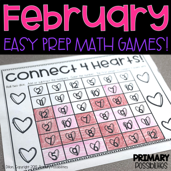 February Printable Math Games