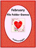 Valentine's Day Math & Literacy File Folder Games Autism S
