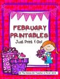 February Printables: Worksheets for February