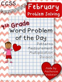 February Problem Solvers: Word Problem of the Day