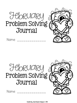 February Problem Solving Journal