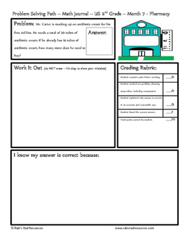 February Problem Solving Path: Real Life Word Problems for 2nd Grade / Year 3