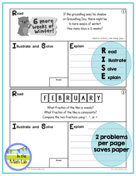 February Problems of the Month (POM) Math Pack - 3rd Grade