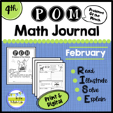 Math Problem-Solving - 4th Grade February POM Pack