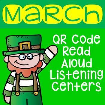 March QR Code Read Aloud Listening Centers