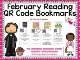 February QR Codes Bookmarks with Comprehension Questions