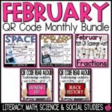 February QR Codes Bundle - Reading & Math