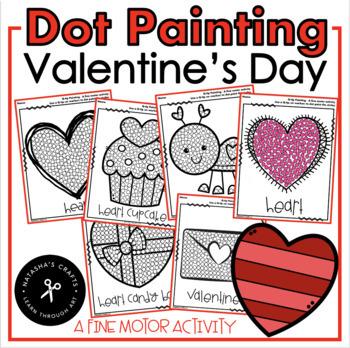 February Qtip Painting Fine Motor Development Activity