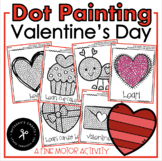 Q-Tip Painting February / Fine Motor Development Activity