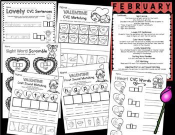 kindergarten valentine 39 s day activities february worksheets math reading. Black Bedroom Furniture Sets. Home Design Ideas