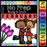 Kindergarten Valentine's Day Activities - February Worksheets - Math - Reading