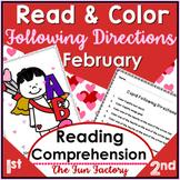 Read & Follow Directions Activities, February - Cupid, Washington, Lincoln
